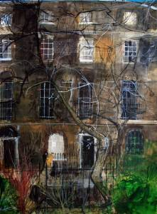 Passers-by,-Islington,-London-2012-Peter-Quinn-RWS-71x54cm