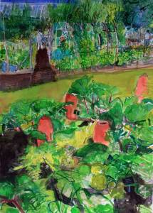 Rhubarb-Harlow-Carr-watercolour-Peter-Quinn-RWS-2014