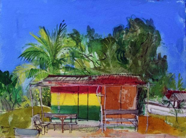 Lion-Rock,-Beach-Bar,-Jamaica-Peter-Quinn-RWS-watercolour-2015webv