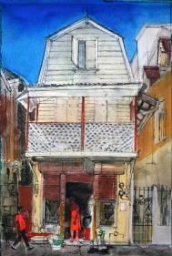 Shop,-Roseau,-Dominica,-West-Indies-Peter-Quinn-RWS-watercolour-2015webv