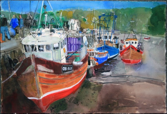Saturday afternoon, quayside, Tobermory, Isle of MullPeter Quinn RWS 2015