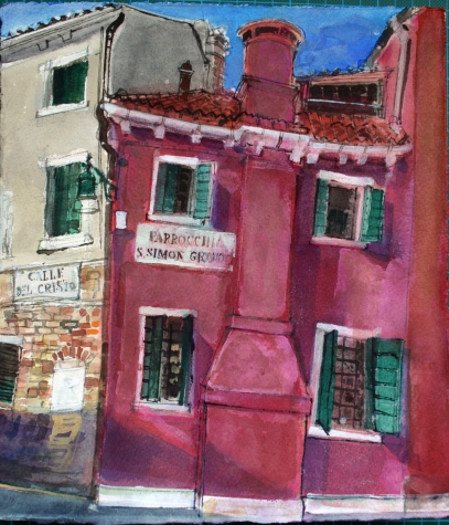 Calle del Cristo, Venice 2017 watercolour