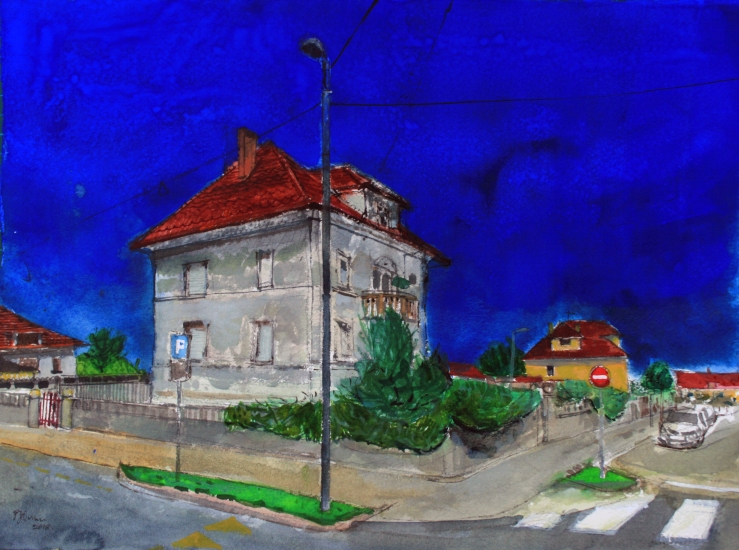 Villa, Ljubljana, Slovenia PQuinn RWS watercolour 2018 45x57cm