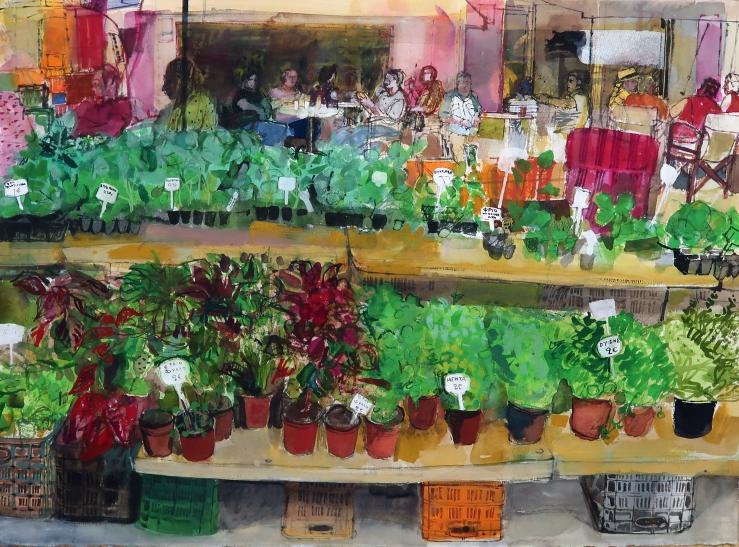 Crete, herb stall